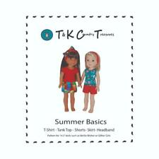"""Sewing Pattern for 14.5"""" Wellie wishers Doll Clothes by Tkct Shorts Skirt Tops"""
