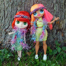 Adorable Multi Color Headband and Boa Scarf Lot - Fits Middie Blythe & Omg Dolls