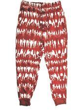 LuLaRoe Jax Joggers L 14/16 Red Tie Dye Drawstring Sweatpants Pockets Plus Size