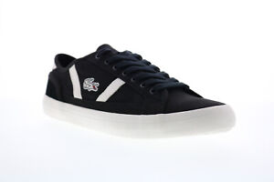 Lacoste Sideline 119 1 Mens Black Canvas Lace Up Lifestyle Sneakers Shoes 10