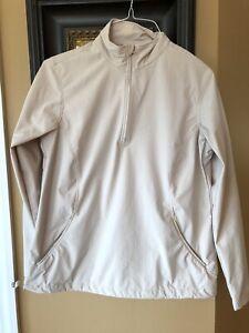 1/4 zip Lady Hagan Khaki Rain Jacket M