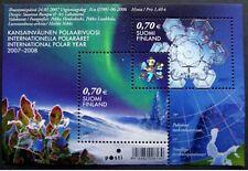 "Finland - ""SNOWFLAKE ~ INTERNATIONAL POLAR YEAR"" Unique Hologram MS 2007 !"
