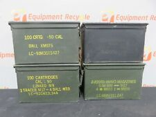 Vintage Ammo Ammunition Boxes Metal Military Storage Army 100 Cartridge Lot of 4