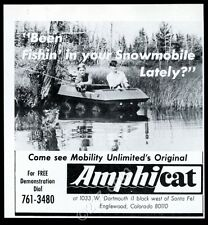 1969 Amphi Cat AmphiCat 6-wheel atv photo vintage print ad