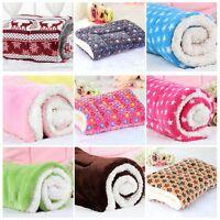 S-XL Soft Cosy Warm Fleece Pet Dog Cat Animal Blanket Bed Mat Pad Throw Large