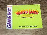 Super Mario Land 3 Wario Land Instruction Manual Booklet Nintendo Game Boy