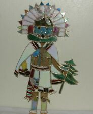 H Claborne stained glass kachina doll suncatcher