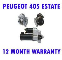 Peugeot 405 estate 1.4 1988 1989 1990 1991 1992 starter motor 12 month warranty