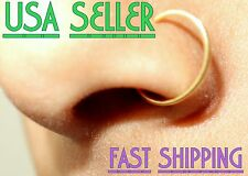 Fake 18G nose septum ear cartilage ring, No piercing required, hoop earring lobe