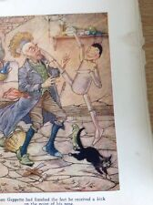 Ephemera 1938 Book Plate Charles Folkard Pinocchio And Geppetto  M52219
