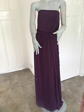 ladies Dessy Collection purple prom layered long maxi dress