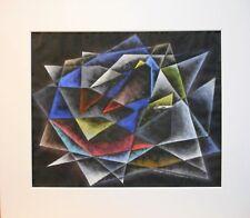 Abstract. Original Gouache & Ink by Garabed DerHohannesian listed US Artist 1951