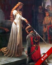 QUEEN KNIGHTING MAN KNIGHTHOOD NOBLE THE ACCOLADE PAINTING ART REAL CANVASPRINT