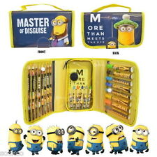 Despicable Me Minions Colouring Bag Stationery Filled Case Pencil Crayons Gift