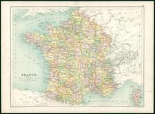 1912 Original Colour Antique Map  - EUROPE FRANCE CITY MAP CORSE    (58)