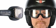 DAVIDA AVAITOR RETRO T1 GOGGLES BLACK LEATHER CHROME FRAMES 670732