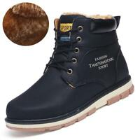 Winter Warm Men Overall Leather Snow Ankle Boots Casual Shoes Thermal Outdoor sz