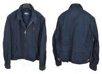 Mens Polo Ralph Lauren Vintage Harrington Jacket Bomber Blue Cotton Size XL