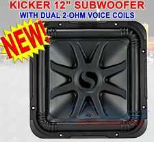 "KICKER SOLO-BARIC L7S 1500W 12"" 2 Ohm DVC SEALED OR PORTED SQUARE SUBWOOFER NEW!"