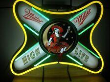 "New Miller Lite High Life Girl Beer Neon Sign 19""x15"""
