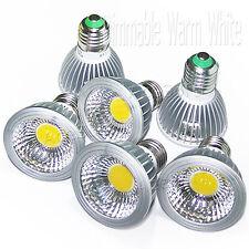 6pcs 15W Par20 E26 E27 Dimmable Warm White Led Cob Spotlight Lamp Light Bulb Usa