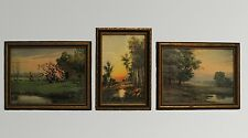 Set of 3 Vintage Framed Pictures Nature Landscape