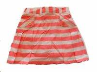 NWT Girls Gymboree Bright and Beachy pink white striped elastic skorts skirt~  6