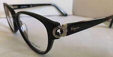 Ferragamo Authentic Lady's Eyeglass SF2735 Plastic Black, Gold Design Temples