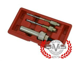 8mm 10mm 12mm Glow Plug Puller Remover & Reamer Kit 3 Piece - Removes Stuck Plug
