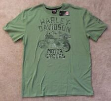 Harley Davidson  Sufferin Thunder Green Shirt NWT Men's XXL