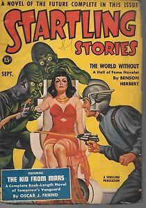 SI-FI Pulp--Startling Stories  Sept 1940-----10