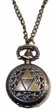 "Zelda TRI FORCE Crest Pendant Watch on 30"" Chain"