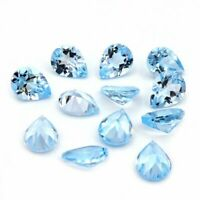 Details about  /Lot of 3x5mm To 10x14mm Pear Cabochon Natural Sky Blue Topaz Loose Gemstone-AA
