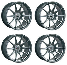 "XXR 527 17"" X 9.75J 4x108/114 Noir Chrome Massif Large jantes alliages Wheels Z1246"