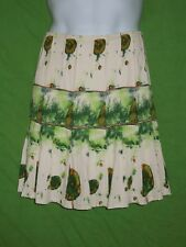 Stiletto skirt size 6 cotton spandex knee length zip lined beige green