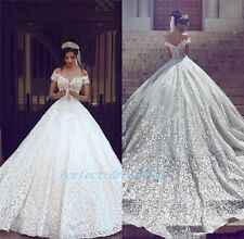 New Lace White/Ivory Wedding Dress A Line Ball Bridal Gown Custom Made 2 4 6 8++