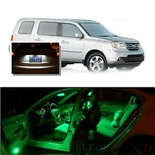 For Honda Pilot 2006-2008 Green LED Interior Kit + Xenon White License Light LED
