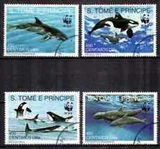 St Thomas et Prince 1992 Animaux WWF (44) Yvert n° 1080 à 1083 oblitéré used