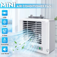 Cool Air Conditioner Portable Mini Air Cooler Humidifier USB Fan Desktop Office