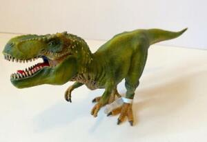 2011 Schleich Tyrannosaurus Rex Dinosaur action figure T-Rex jaw moves