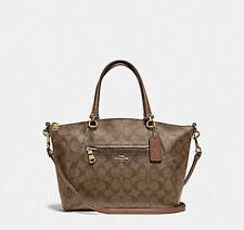 Coach Small Prairie Black Leather Satchel Crossbody Bag 79997