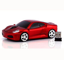 UK Gaming Mouse Red 2.4GHz Wireless 3D Cool 1600DPI Car Model Shape Usb F430