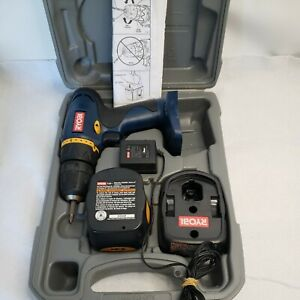 RYOBI Cordless Drill-Driver Model HP496 - 9.6 Volt Complete in Case Tested Works