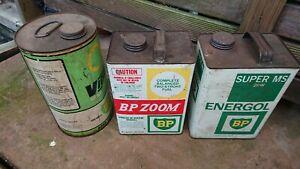 Vintage fuel cans x3 BP