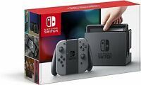 NEW Nintendo Switch - 32GB Gray Console with Gray Joy-Con