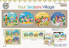 """""""The Four Seasons Village"""" Counted Cross stitch pattern leaflet.. SODA SO-G85"""