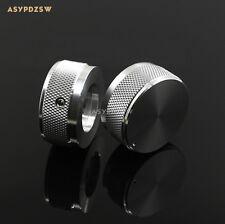 1 PCS 35*16 Knurled gloss silver Aluminum amplifier Volume potentiometer knob
