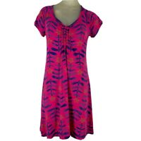 Fresh produce Woman's dress size small Knit Cotton  pink purple pattern