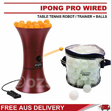 iPong Pro Wired Table Tennis Robot / Trainer + 100x 1 Star White Balls Formula