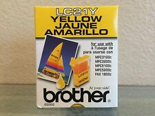 Brother Yellow Ink Cartridge LC21Y - Genuine - New - Sealed
